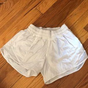 Lululemon white workout shorts
